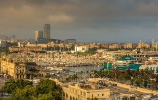 Barcelona Port Panorama